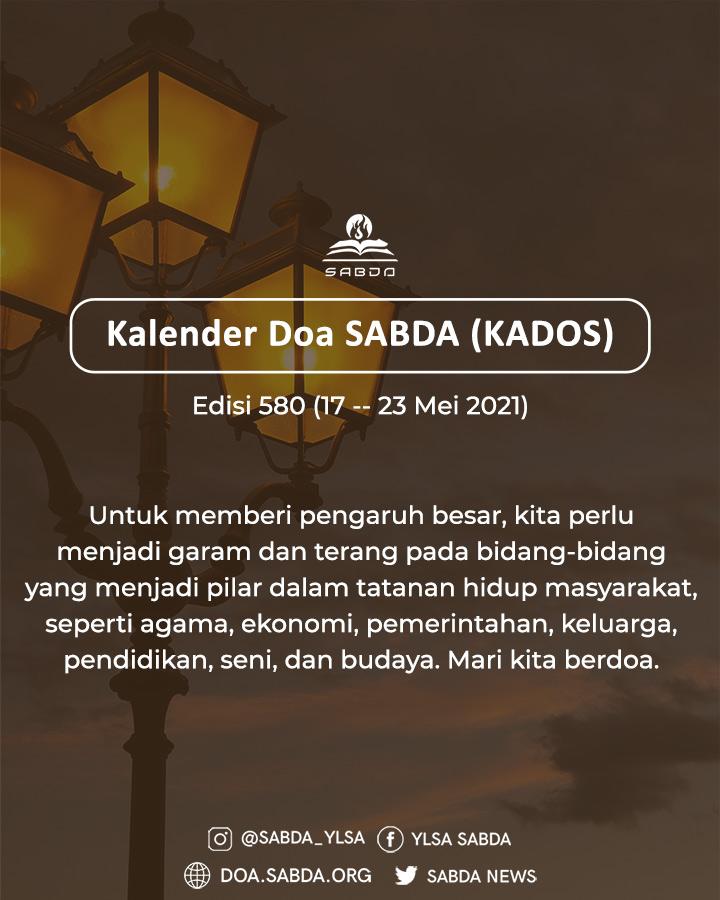 Pokok Doa KADOS 17 -- 23 Mei 2021