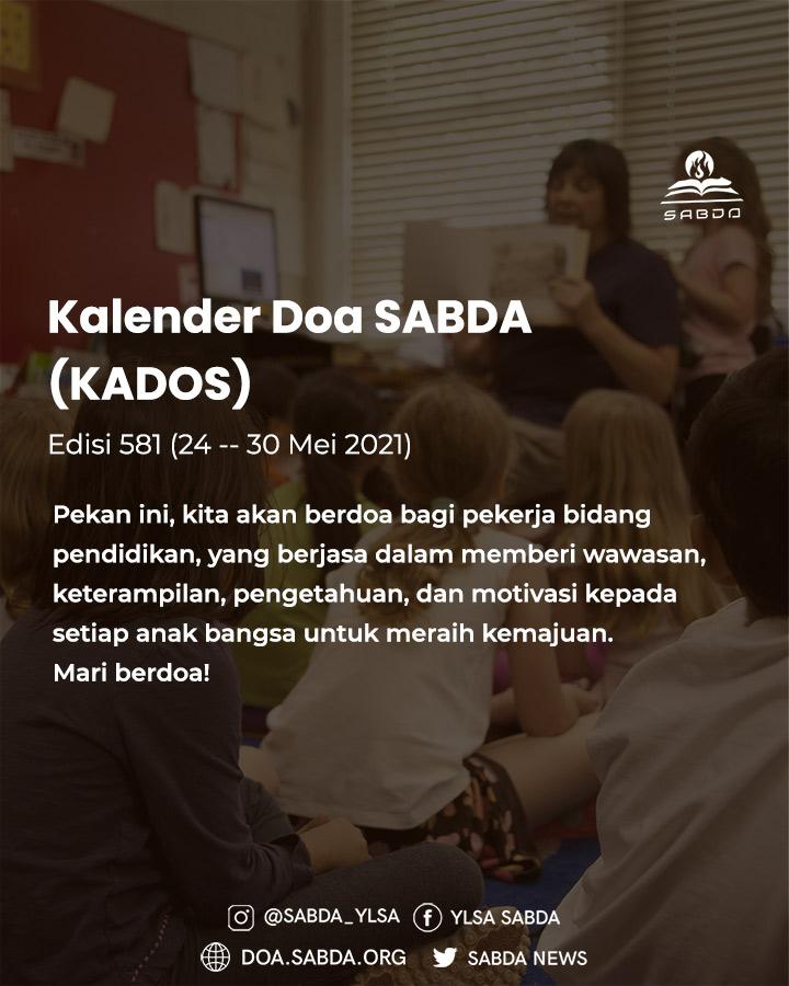 Pokok Doa KADOS 24 -- 30 Mei 2021