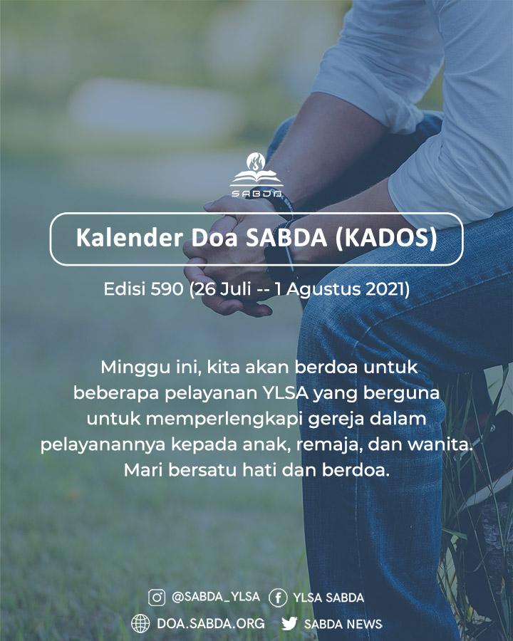 Pokok Doa KADOS 26 Juli -- 1 Agustus 2021