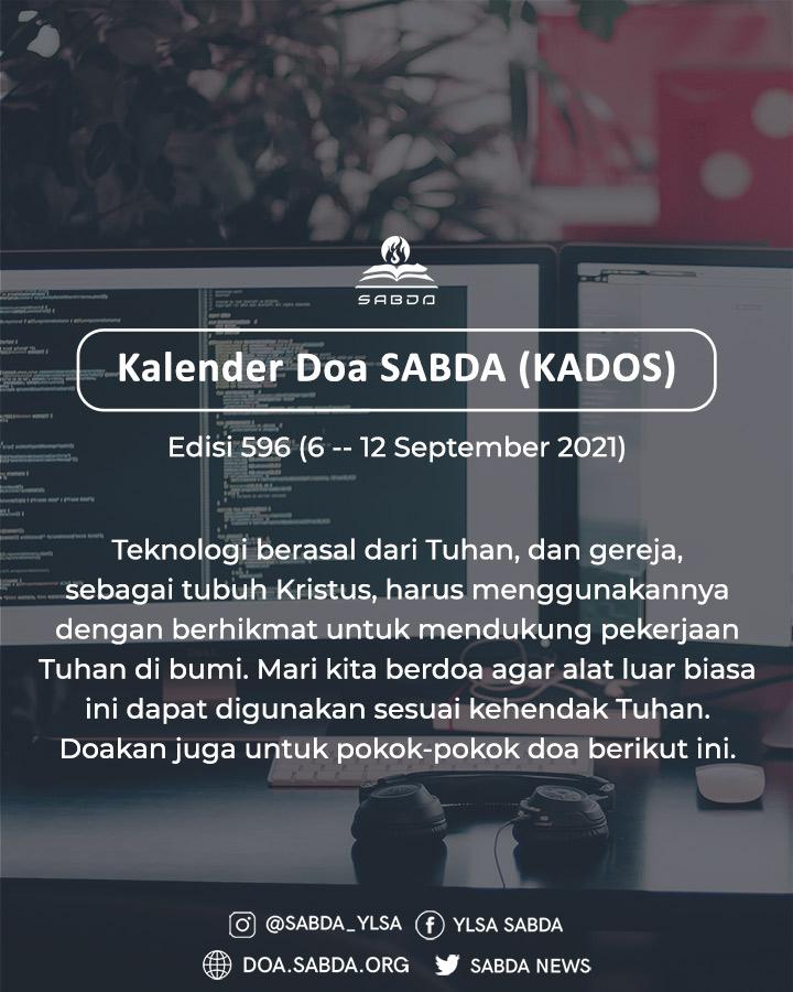 Pokok Doa KADOS 6 -- 12 September 2021