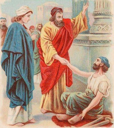 Gambar: Petrus dan Yohanes