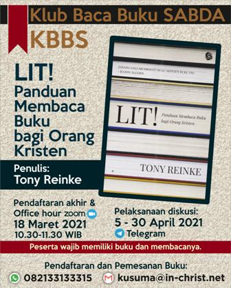 Brosur Klub Baca Buku SABDA (KBBS)