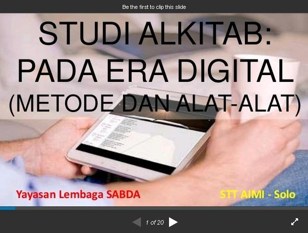 SlideShare Studi Alkitab pada Era Digital