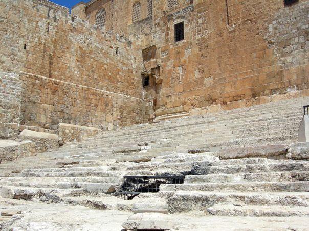 Tangga selatan di Kuil Gunung di Yerusalem