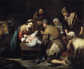 Para gembala menemui Bayi Yesus