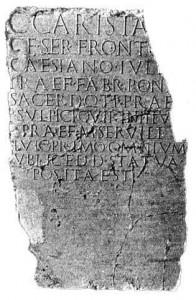 Gambar: Prasasti Quirinus