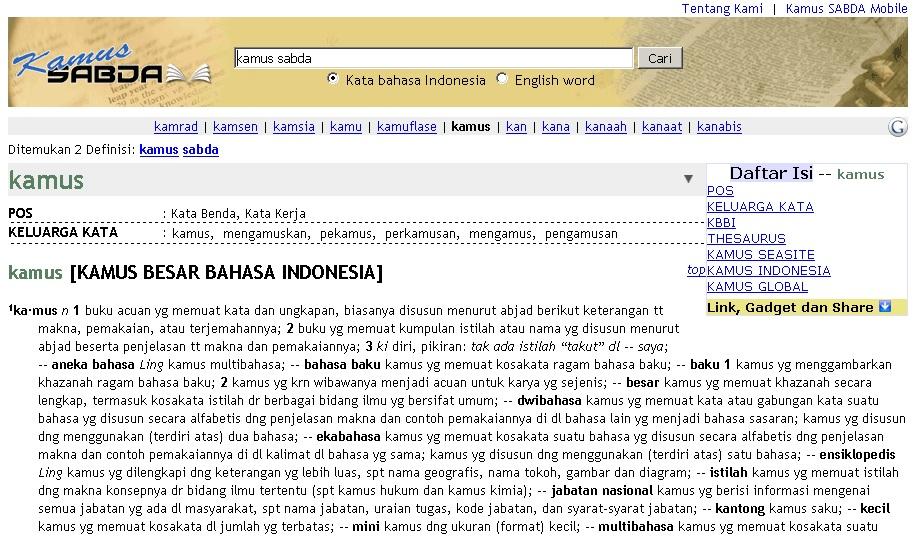 Situs Kamus SABDA