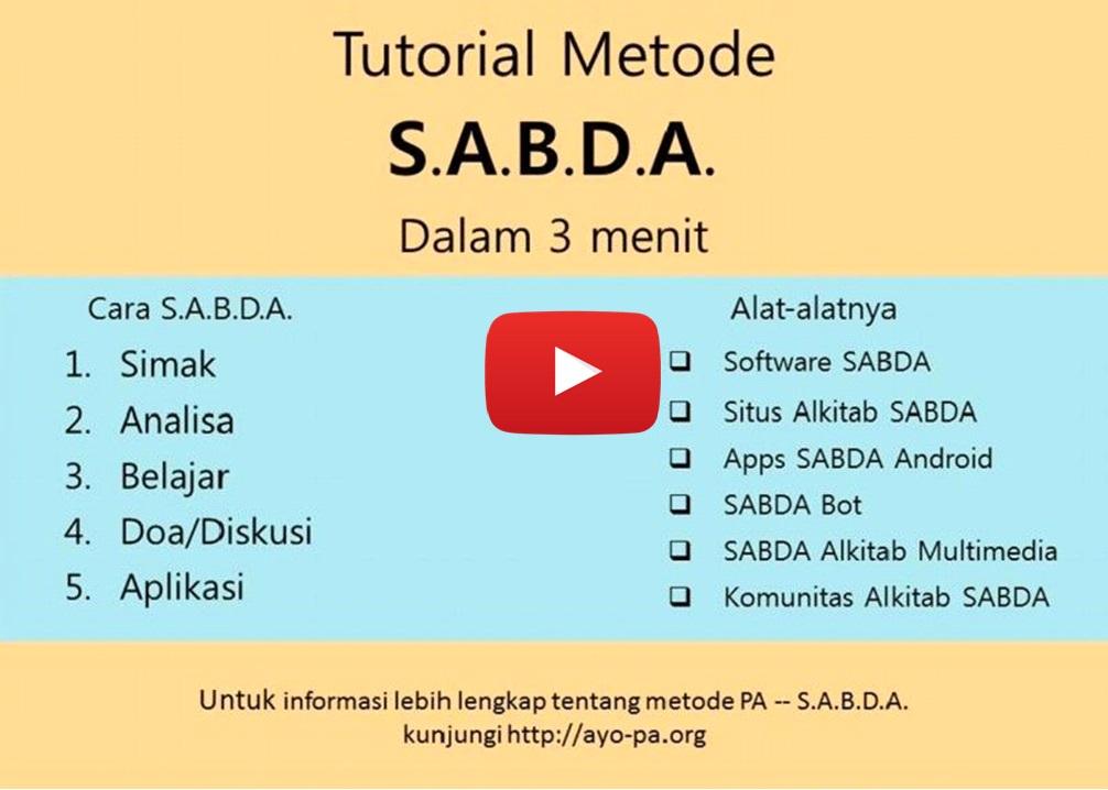 Tutorial Metode SABDA