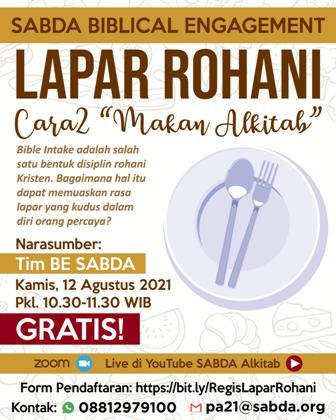 "Brosur Lapar Rohani: Cara2 ""Makan Alkitab"""
