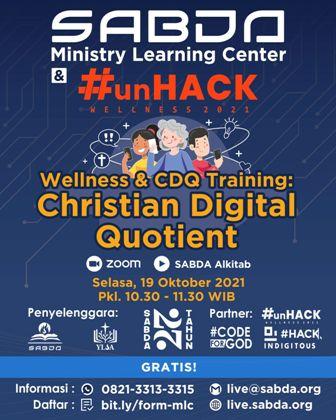 Brosur Wellness & CDQ Training: Christian Digital Quotient
