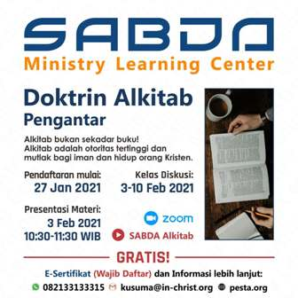 Brosur Kelas Pengantar Doktrin Alkitab