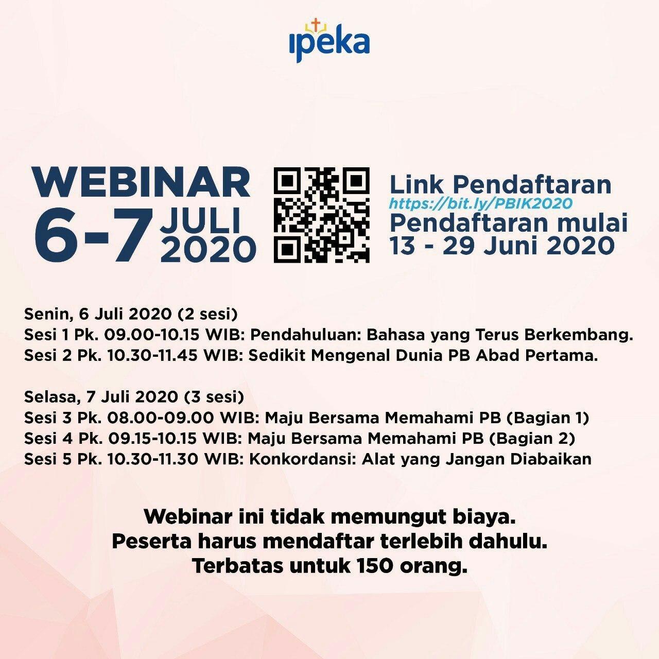 Jadwal Webinar Ipeka